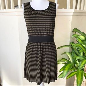 Express black and gold striped dress size M